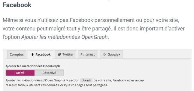 Open graph de Facebook