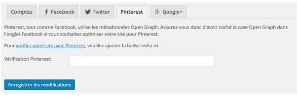 Yoast pour Pinterest