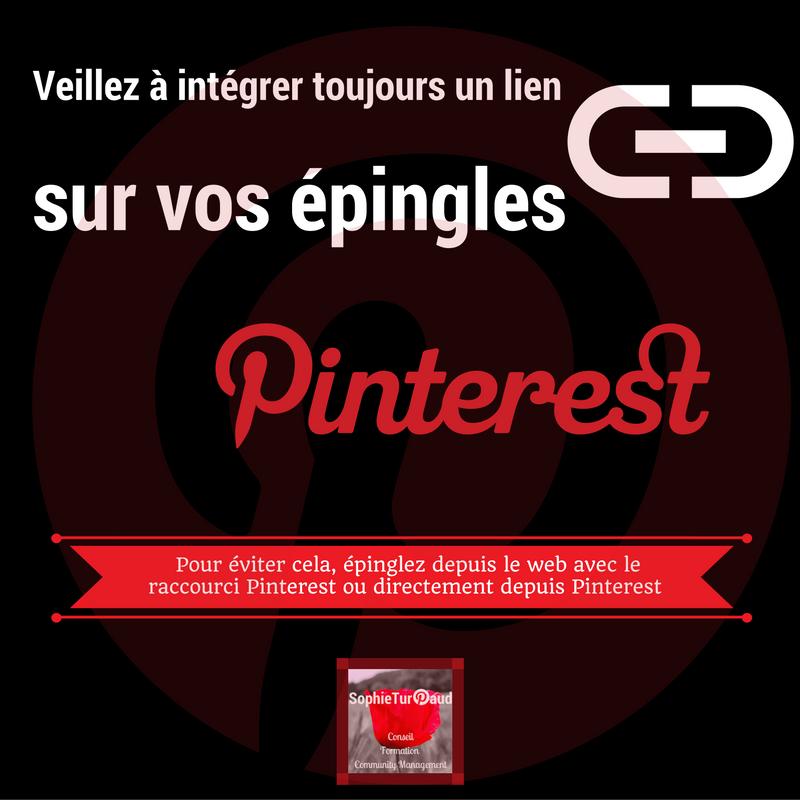 Un lien vers vos épingles Pinterest