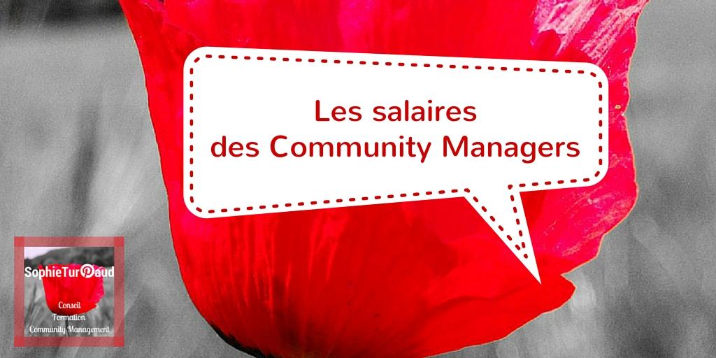 Les salaires des community managers