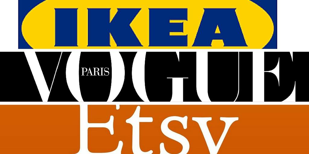 logo Etsy Ikea Vogue