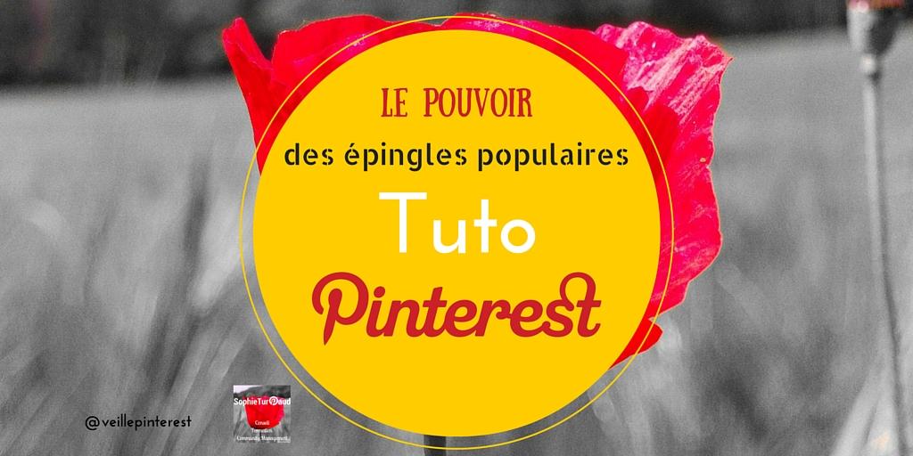 Tutoriel Pinterest - Le pouvoir des épingles populaires