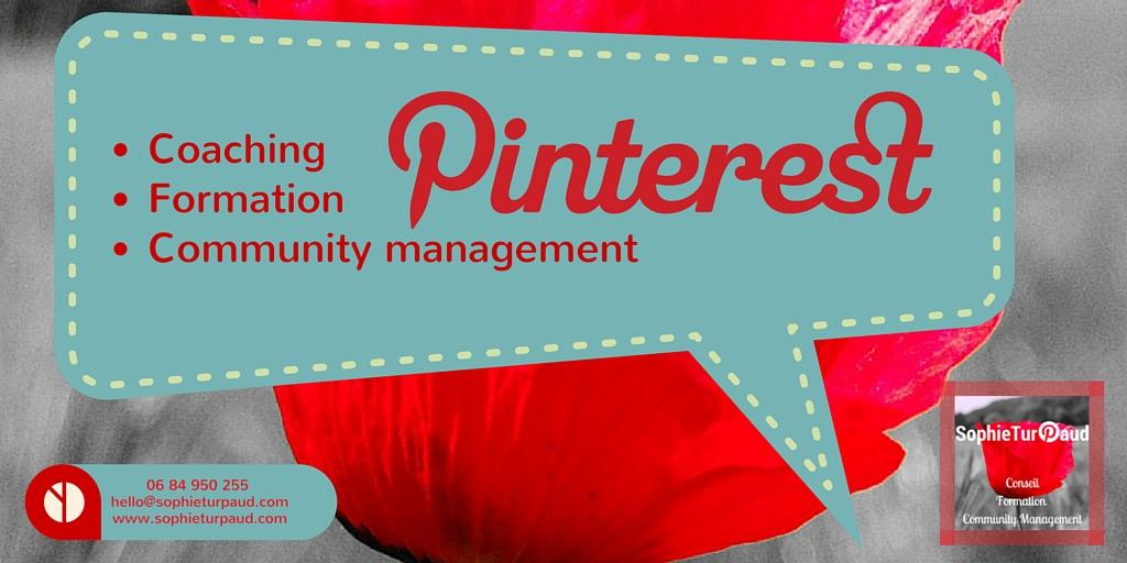 Coaching Formation ou Community Management de votre compte Pinterest