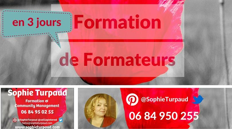 Formation de Formateurs en 3 jours @sophieturpaud
