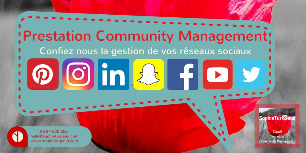 Prestation community management, pour gérer vos réseaux sociaux