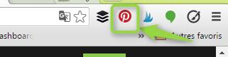 raccourci bouton Pin it sur votre navigateur