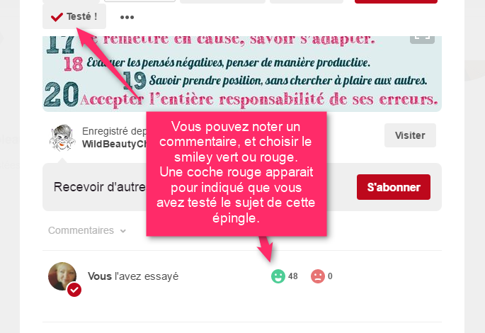 Les tests d'épingle Pinterest via @sophieturpaud