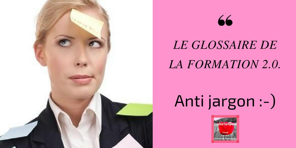 Glossaire anti-jargon de la formation 2.0.