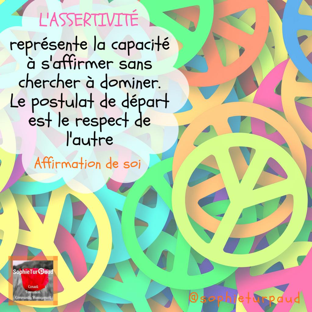 Définition de l'assertivité via @sophieturpaud