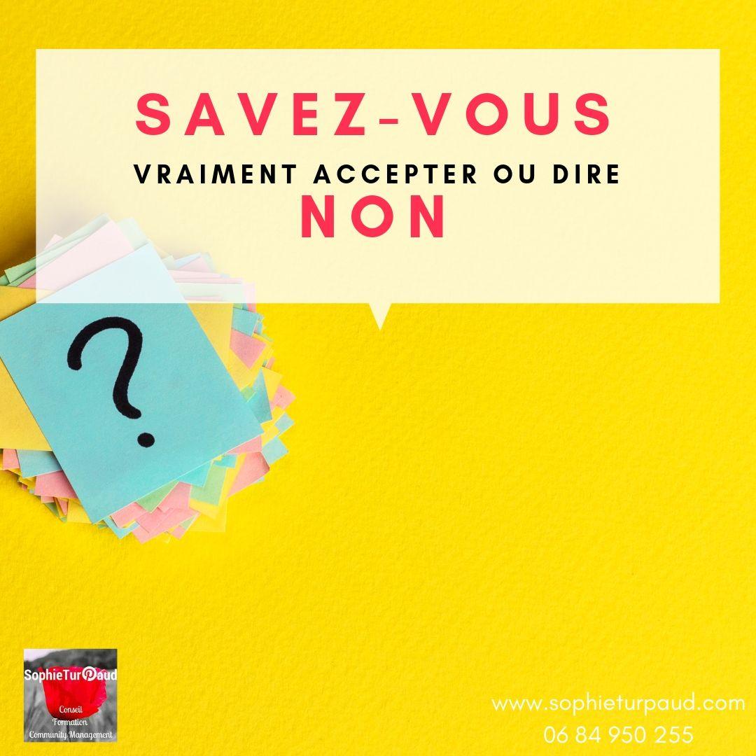 Savoir dire non @sophieturpaud #assertivité #affirmationdesoi