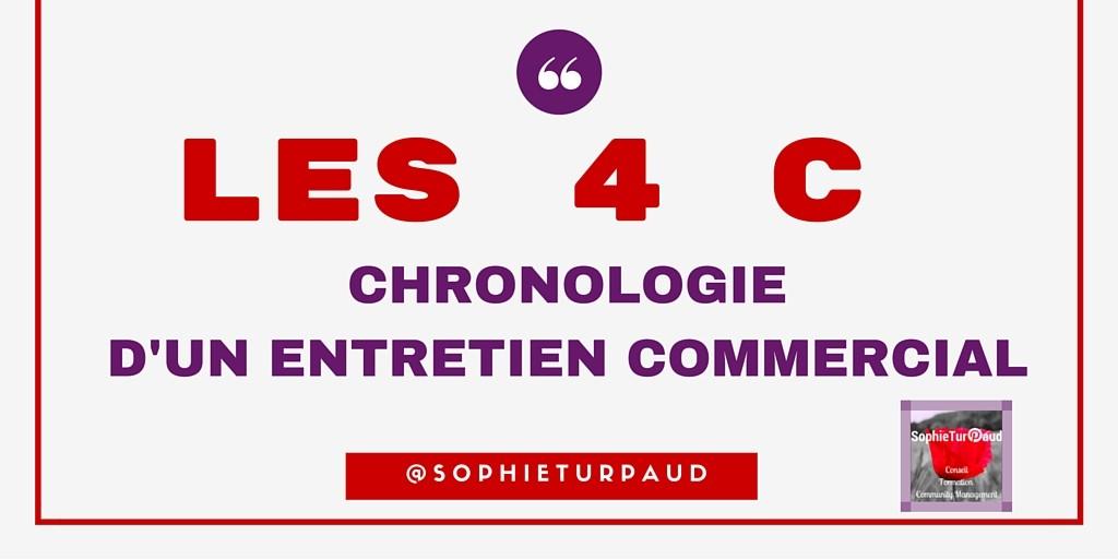 LES 4 C CHRONOLOGIE D'UN ENTRETIEN COMMERCIAL