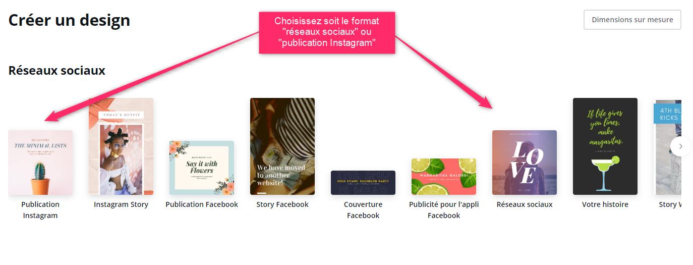 Choisir le format Instagram ou réseaux sociaux pour vos covers Pinterest via @sophieturpaud