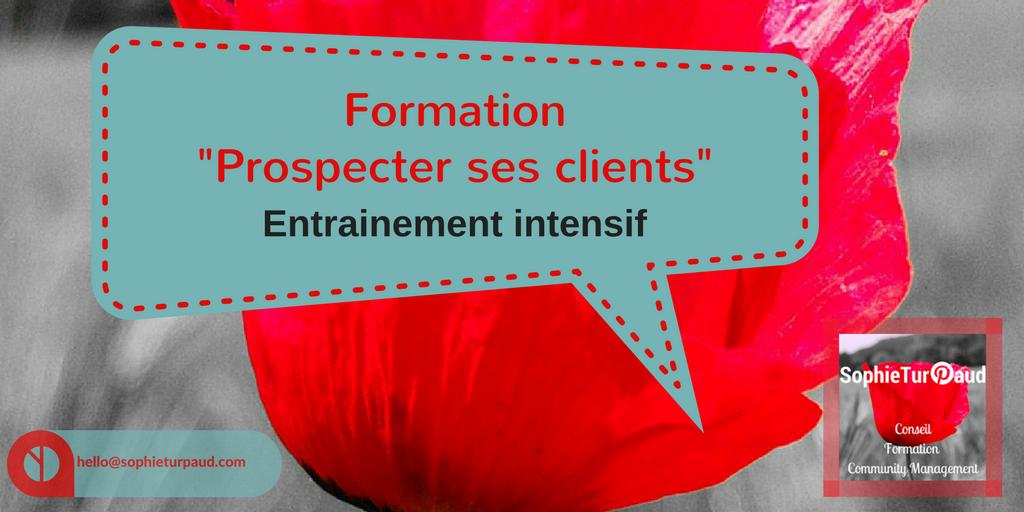 Formation prospecter ses clients , entrainement intensif via @sophieturpaud