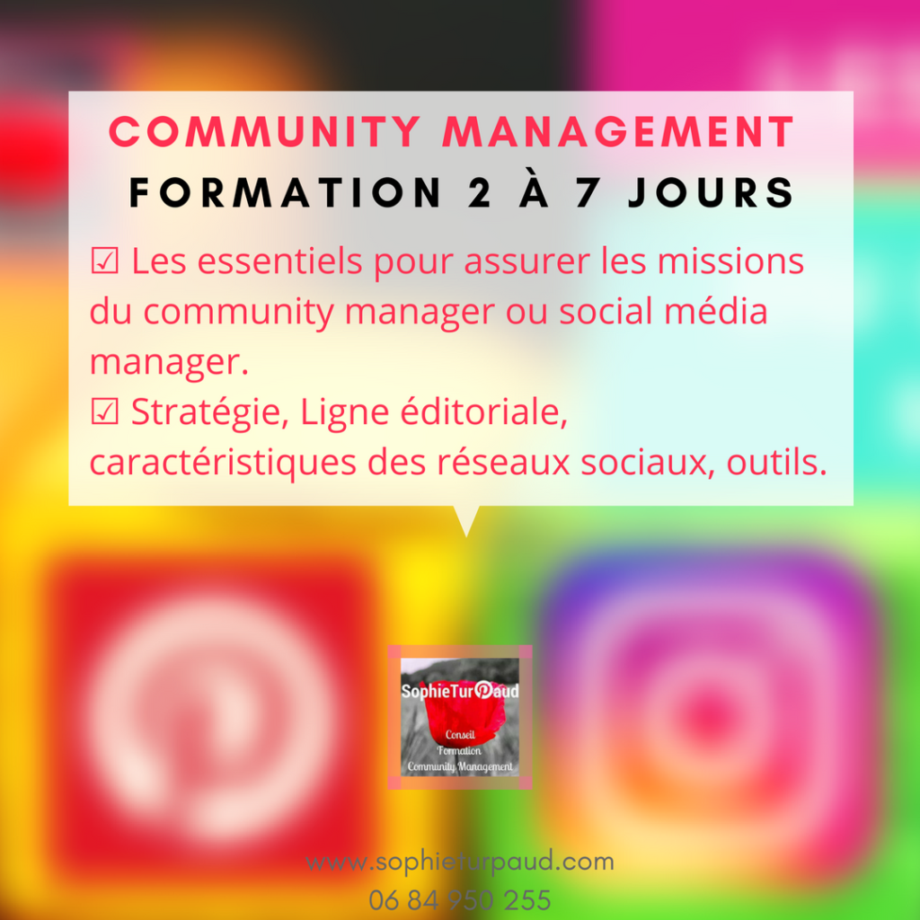 Formation community management de 2 à 7 jours via @sophieturpaud