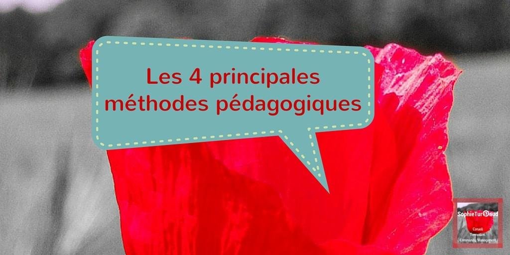 Repérer les 4 principales méthodes pédagogiques en formation