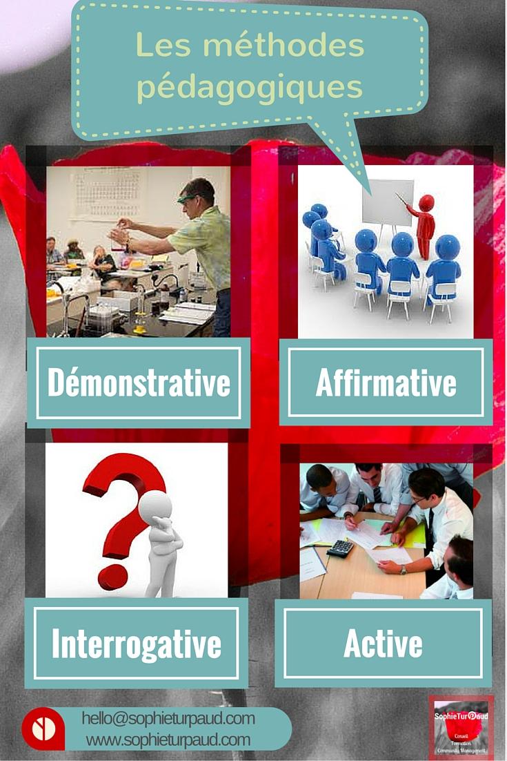 Infographie : Les 4 principales méthodes pédagogiques en formation via @sophieturpaud