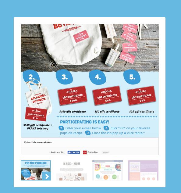 Exemple de concours Pinterest avec Woobox via @sophieturpaud
