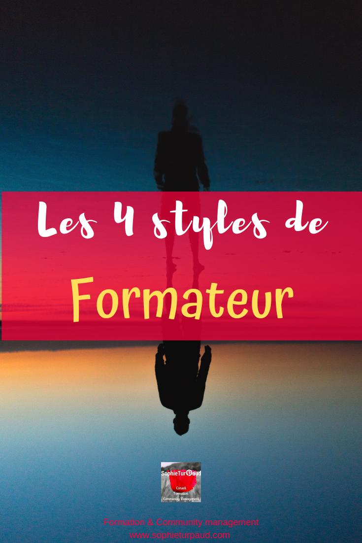 Les 4 styles de formateur via @sophieturpaud #formpro