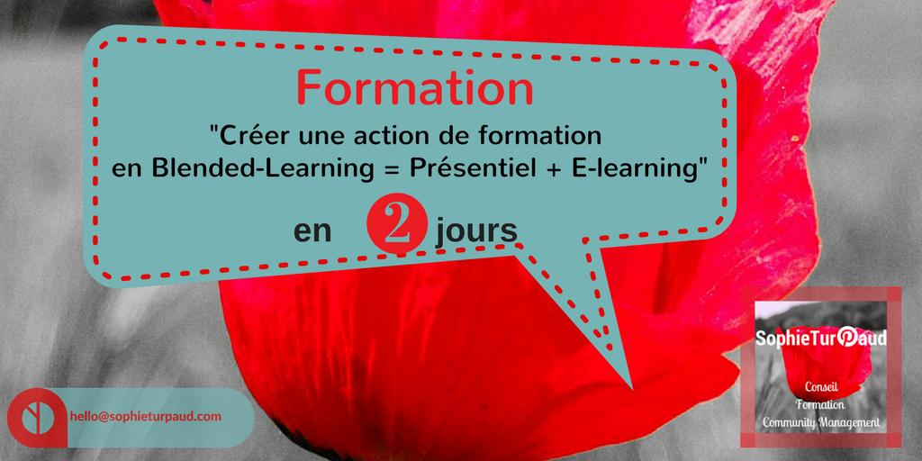 Formation Créer une action de formation en Blended-Learning en 2 jours via @sophieturpaud
