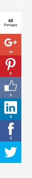 Les boutons de partages sur votre blog