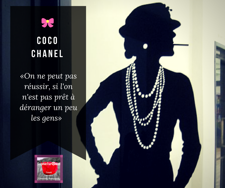 Citation Coco Chanel via @sophieturpaud