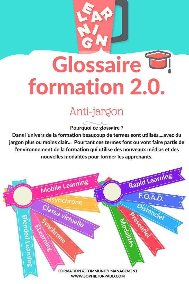Glossaire de la formation 2.0. via @sophieturpaud #formpro #blendedlearning