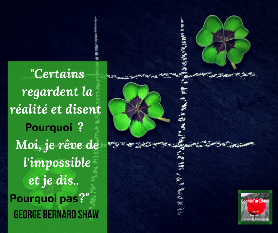 Citation Bernard Shaw via @sophieturpaud