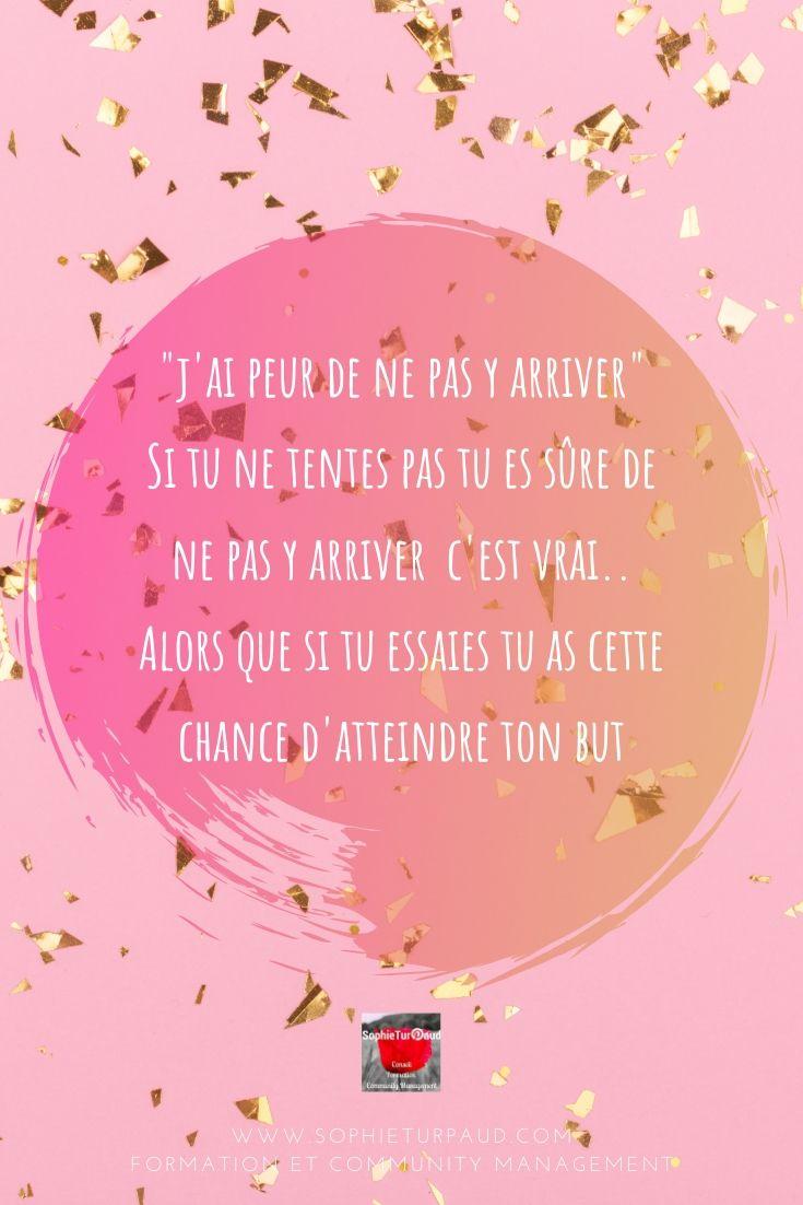 Citation j'ai peur de ne pas y arriver  via @sophieturpaud #citation #motivation