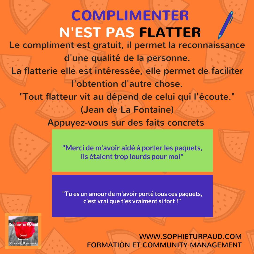 complimenter ou flatter - via @sophieturpaud