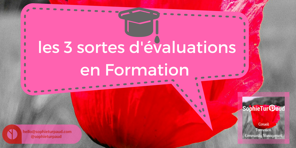 3 sortes d'évaluations en formation via @sophieturpaud