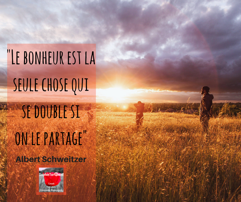 Citation Bonheur Albert Schweitzer via @sophieturpaud