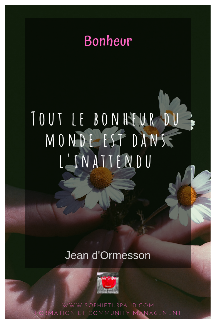 Citation Tout le bonheur du monde de Jean d'Ormesson via @sophieturpaud