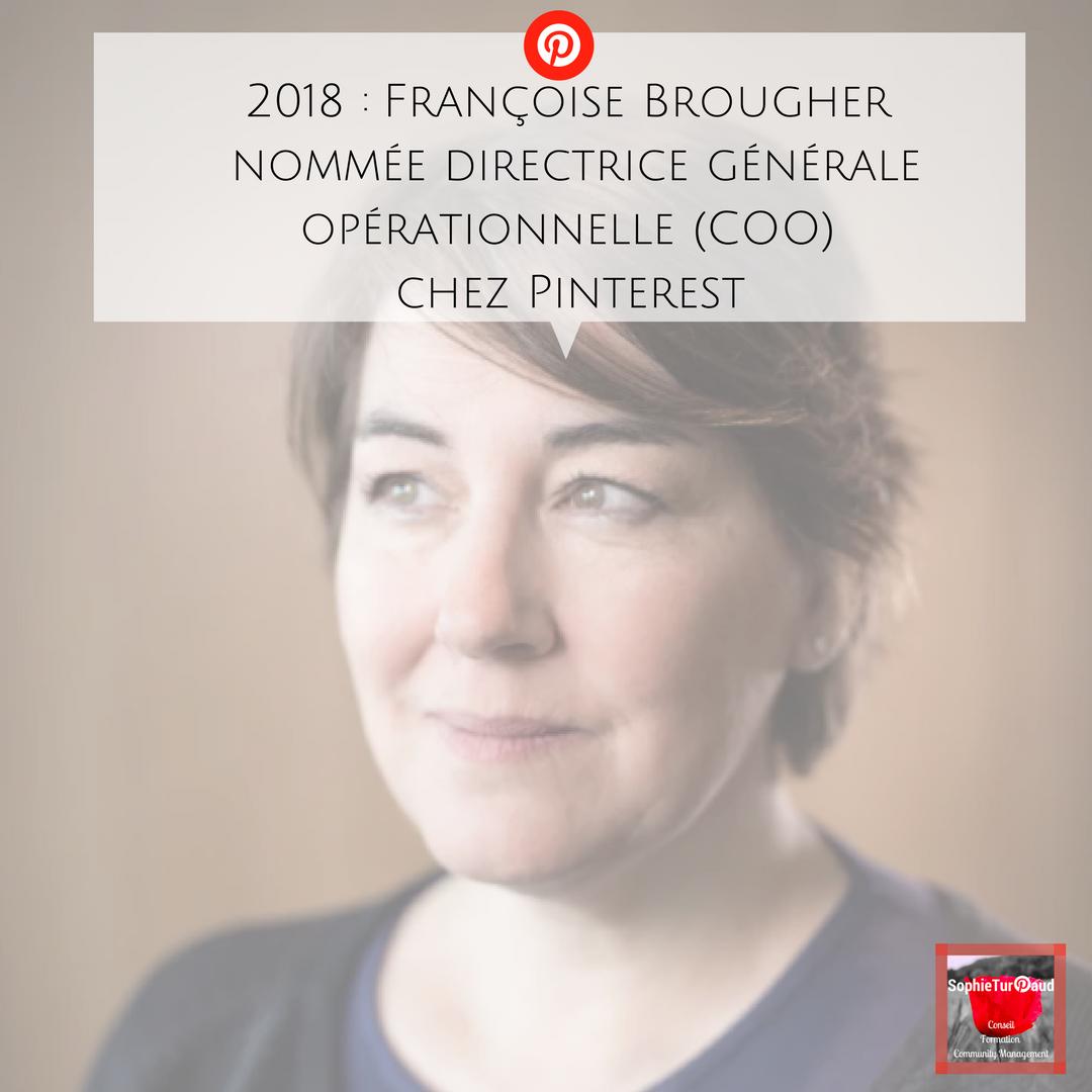 Françoise Brougher nommée directrice générale opérationnelle chez Pinterest
