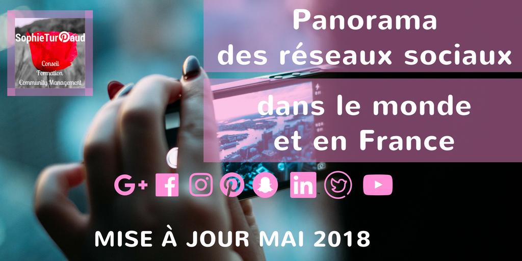 Infographie les réseaux sociaux Mai 2018