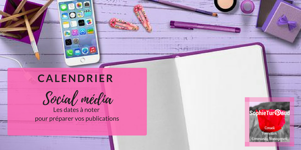 Calendrier éditorial social média pour Juin