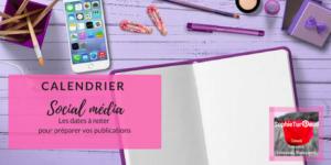 Calendrier social média pour préparer vos publications via @sophieturpaud