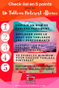 Check list en 5 points pour un tableau Pinterest efficace via @sophieturpaud