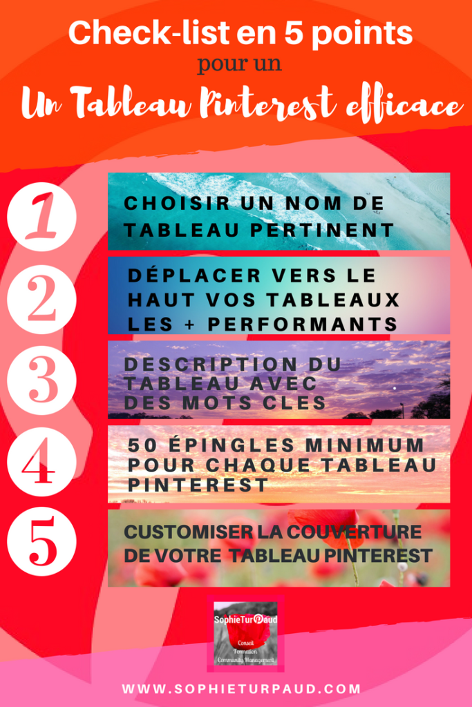 Check list en 5 points pour un tableau Pinterest efficace via @sophieturpaud