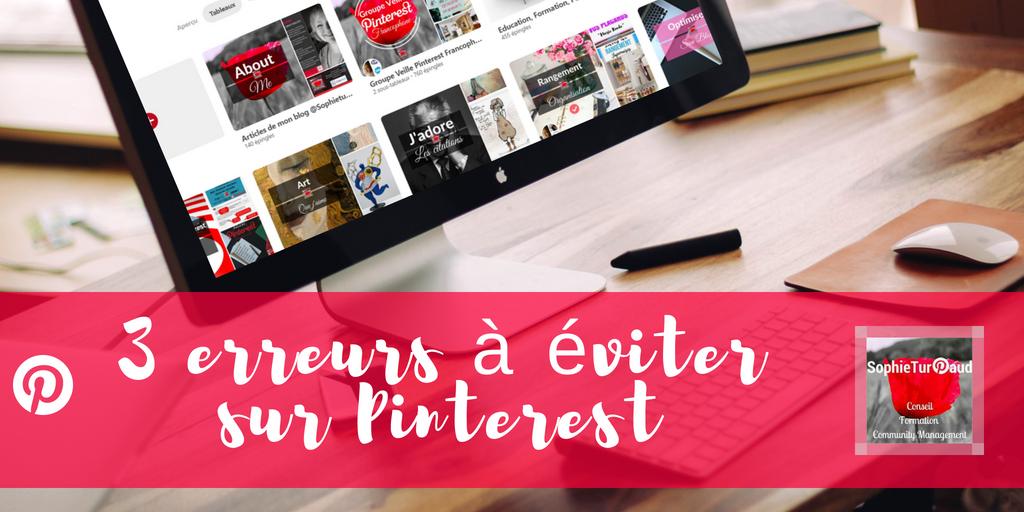 3 erreurs Pinterest à éviter