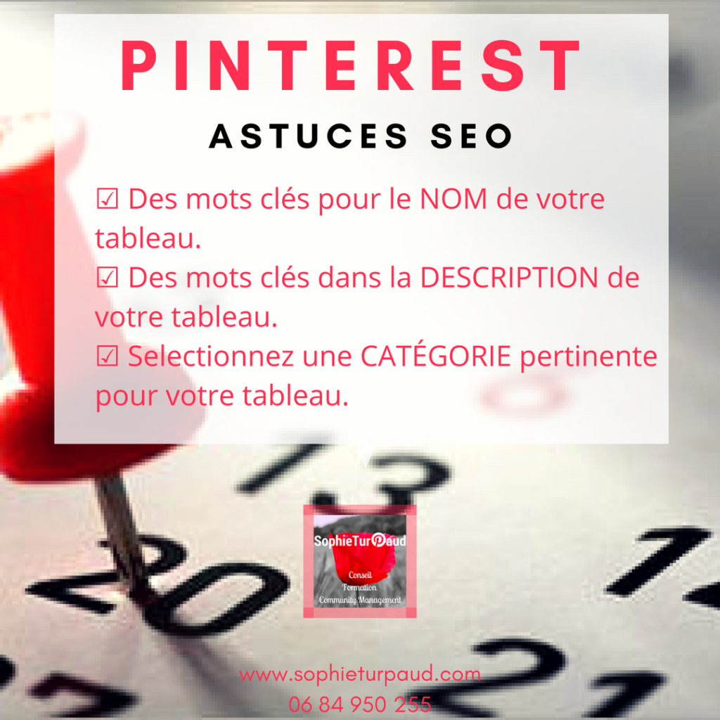 Astuces SEO pour Pinterest via @sophieturpaud