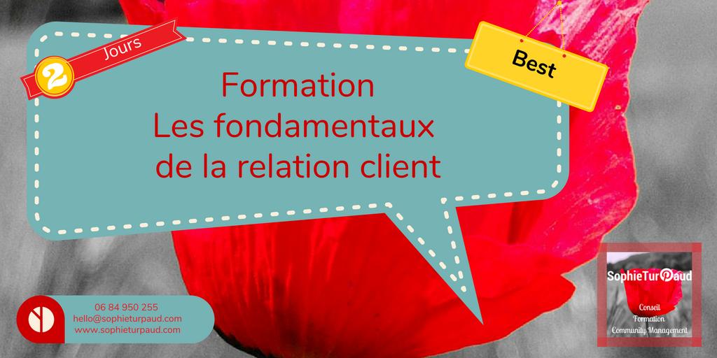Formation les fondamentaux de la relation client via @sophieturpaud