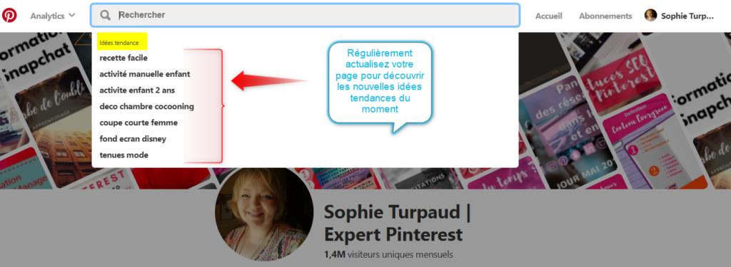 Idées tendances recherche Pinterest via @sophieturpaud