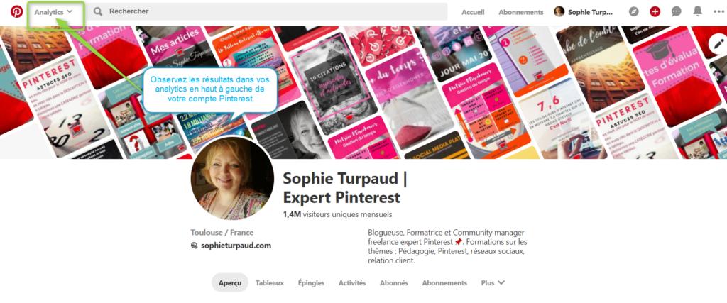 3 astuces SEO pour Pinterest . Vérifiez sur vos Pinterest analytics le résultat via @sophieturpaud