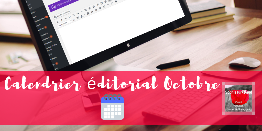 Calendrier editorial Octobre via @sophieturpaud #contentmarketing #redactionweb