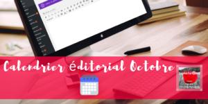 Calendrier editorial Octobre via @sophieturpaud #contentmarketing #redactionweb