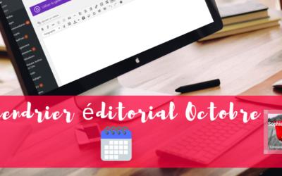 Calendrier éditorial Octobre