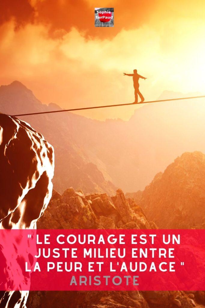Citation Aristote sur le courage via @sophieturpaud