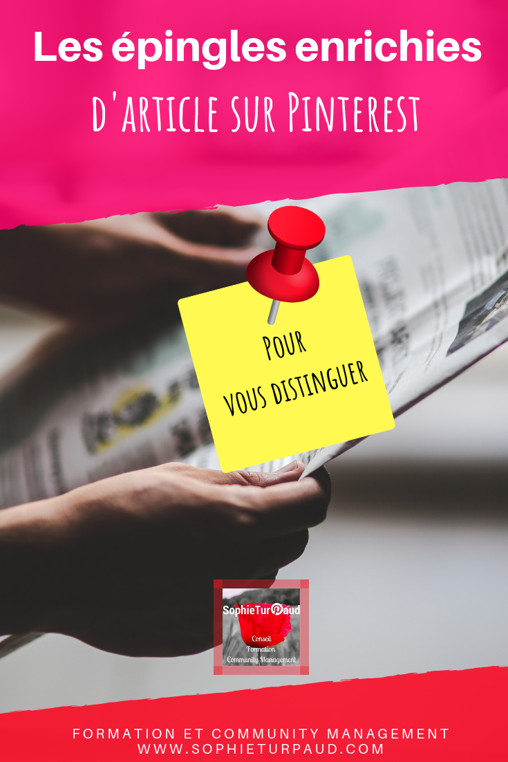 Les épingles enrichies d'articles sur Pinterest. Via @sophieturpaud #Pinterest #PinterestMarketing #CM