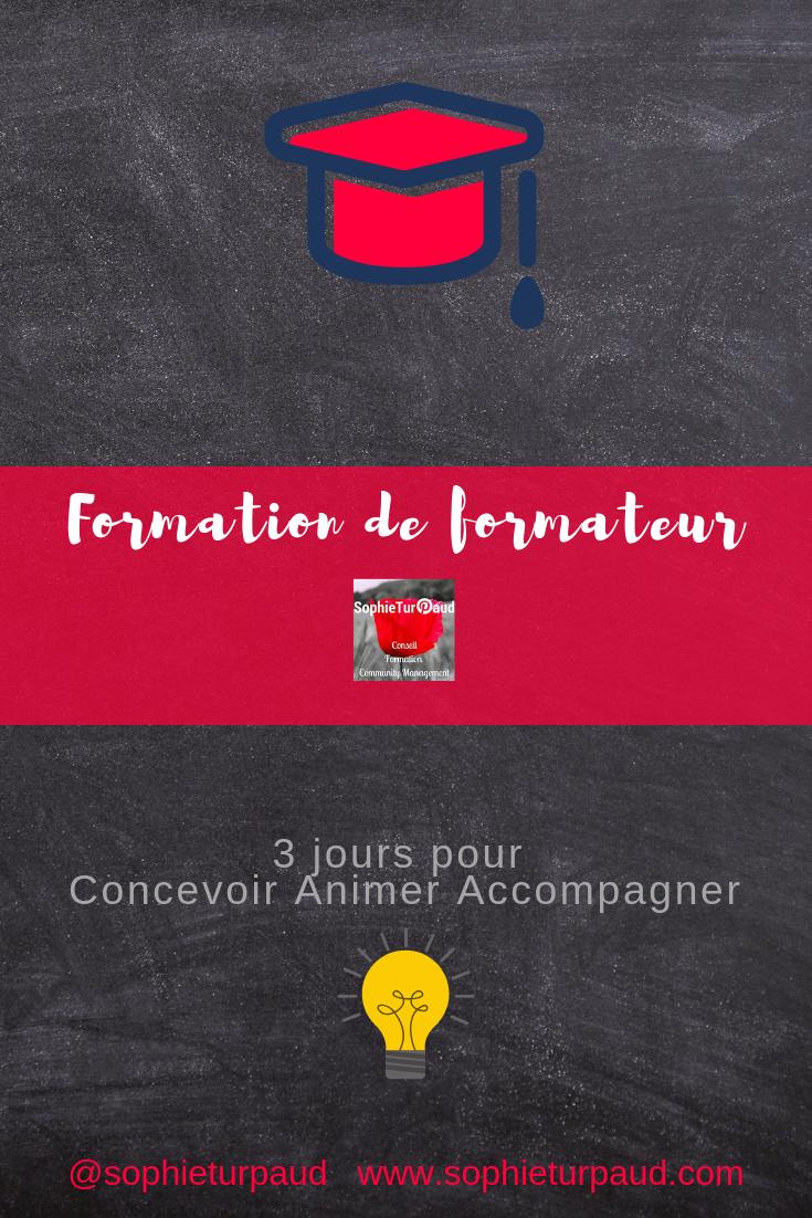 Formation de formateur sur 3 jours via @sophieturpaud #formpro