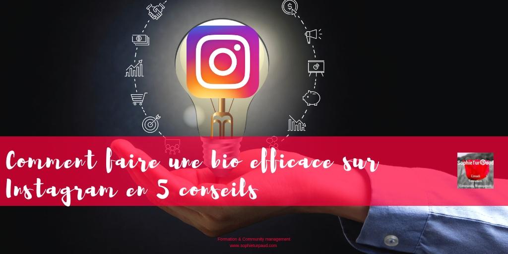 Instagram : 5 conseils pour une bio efficace